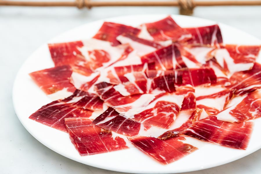 Iberico ham from acorn-fed pigs