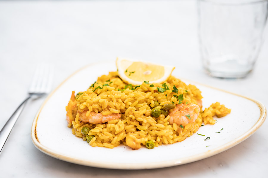 Don Juan style paella(risotto-style rice dish with seafood)