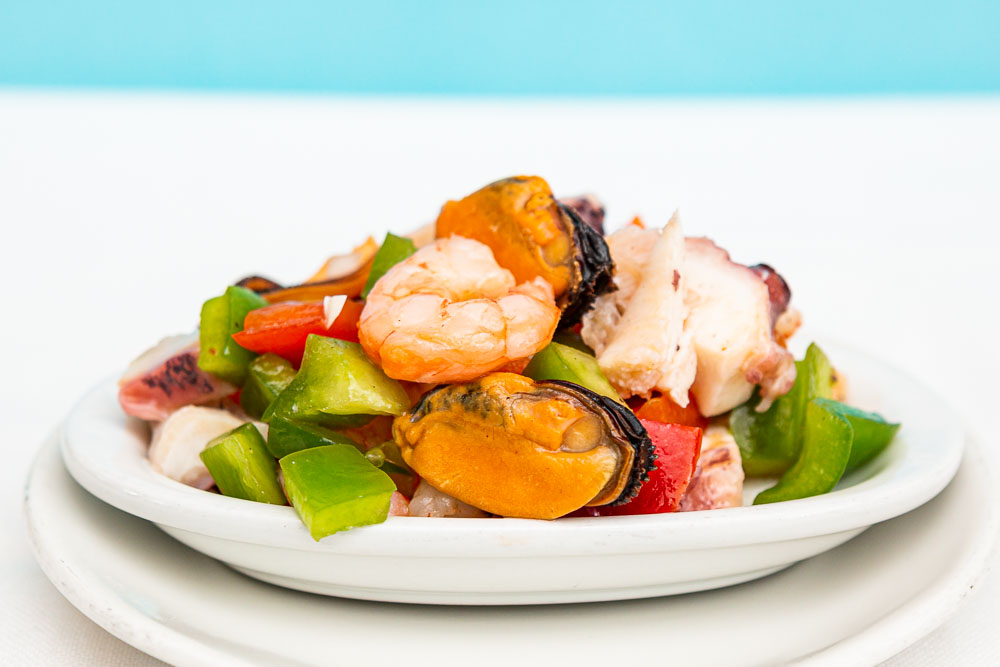 Octopus and seafood salad